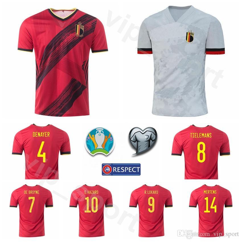 2020 Eurocopa 7 De Bruyne Jersey Belgio Calcio 14 MERTENS 23 Batshuayi 11 CARRASCO 2 Alderweireld 21 CASTAGNE PERICOLO Football Shirt Kit
