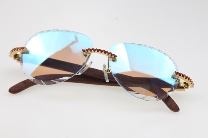 2020 Toptan Rimless Küçük Büyük Taşlar Güneş 8200765 Ahşap Gözlük Ayna Objektif Shield Yüksek Kaliteli C Dekorasyon Optik Unisex