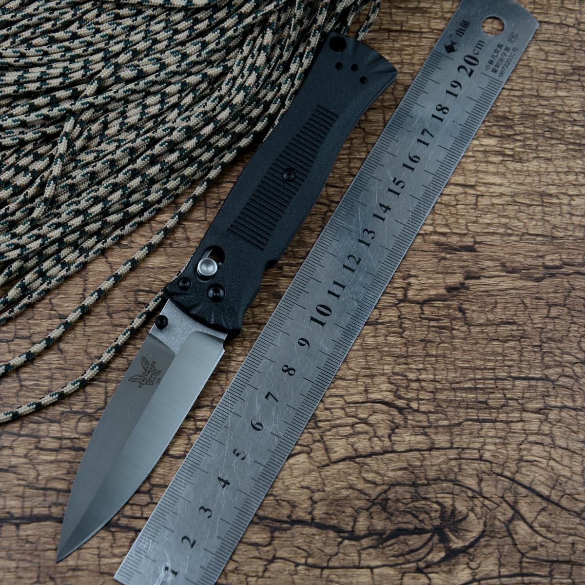cerradura BM 530 cuchillo de la supervivencia del bolsillo de la lámina D2 eje del mango Zytel con clip de bolsillo, cuchillo de bolsillo para acampar al aire libre EDC y corte