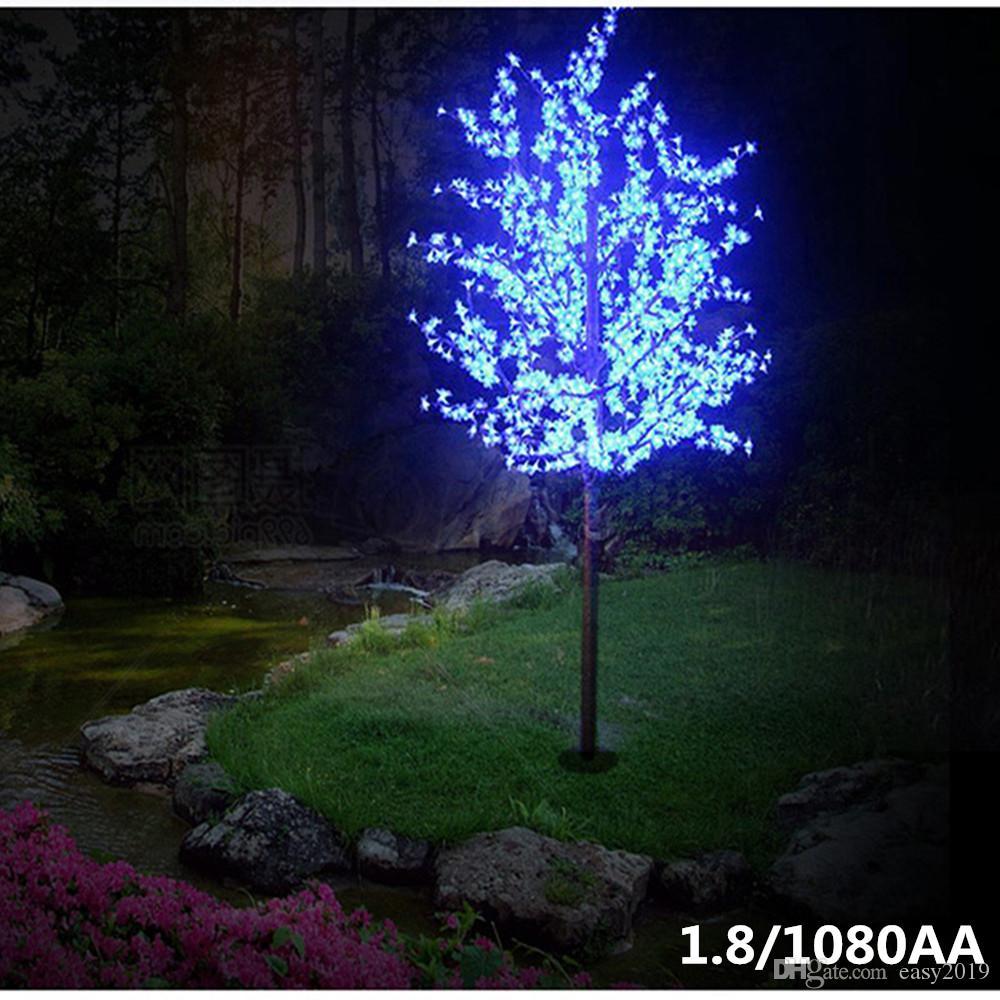2019 LED Fleur de cerisier Arbre de lumière 864pcs LED Ampoules 1.8m Hauteur 110 220VAC sept couleurs pour l'option antipluie Utilisation extérieure Drop Shipping