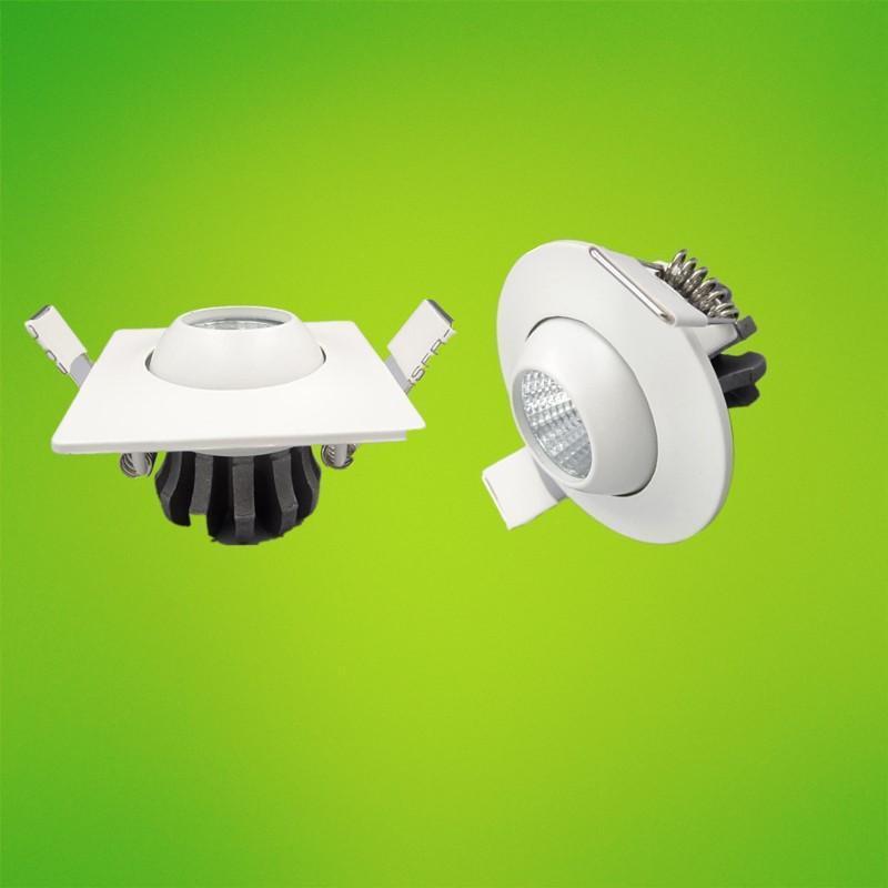 Moda 3W 5W debajo del gabinete, punto de luz Mini downlights llevados mazorca de techo de la lámpara empotrada Para exhibición de la joyería AC85 -265V blanca caliente / fría