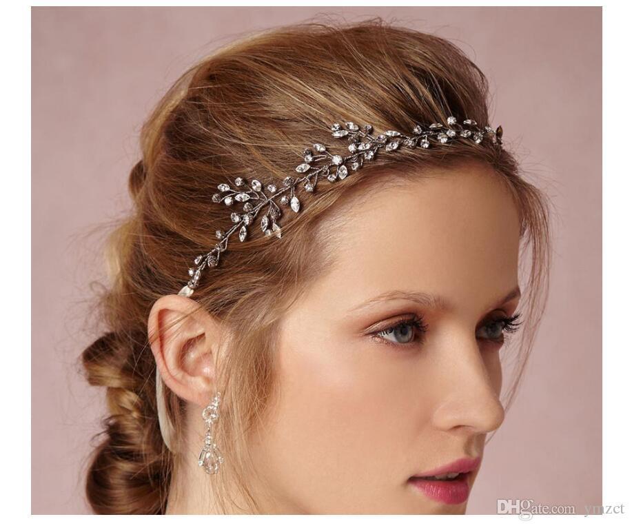 Copricapo da sposa della sposa alla moda Ornamento per capelli della signora Sen Dipartimento Xianmei Anello di cristallo per capelli Vari stili Spot Wholesal