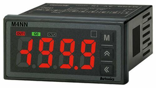 Autonics M4NN-AA-12 AC Ampere Meter, 1/32 DIN, 4-Digit, 5-24VDC, PNP Open Collec