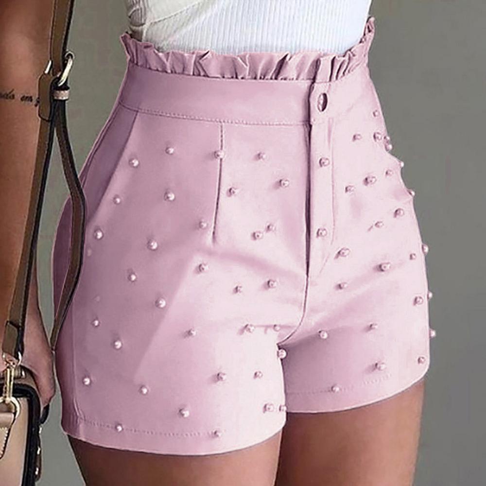 2019 shorts perlés pour femmes minces shorts de mode nouvelle femme fashion été sexy femme pantalon court # 0708