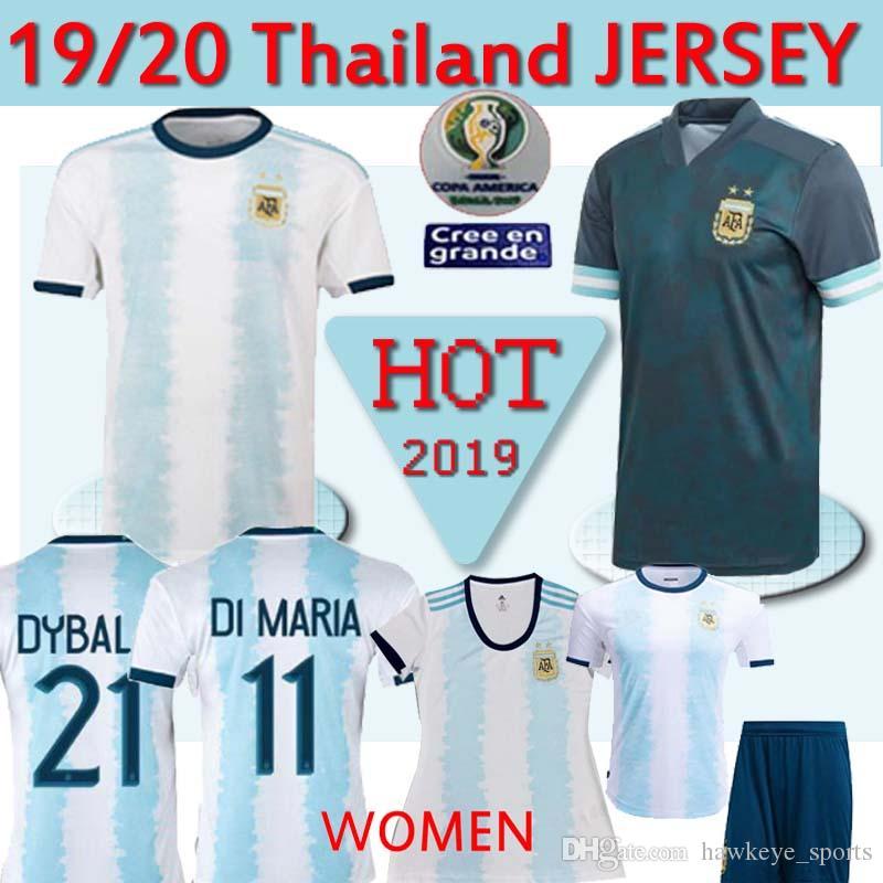 Thailandia Argentina soccer Jersey Copa America 2020 camice argentina di calcio MESSI Dybala Aguero Uomo Donna Bambini set uniforme