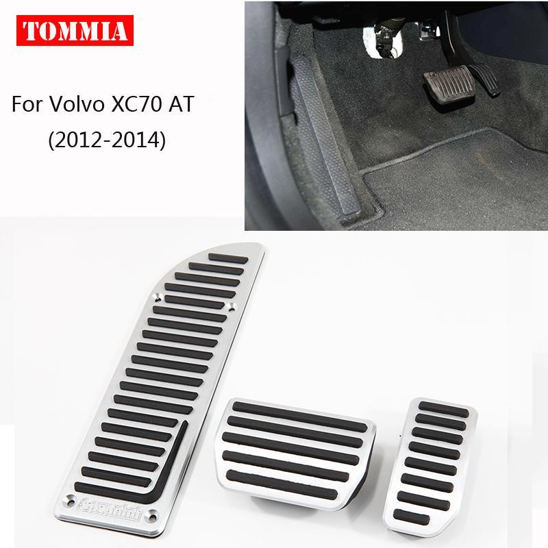 tommia Для Volvo XC70 2012-2014 педали Крышка топливного газа Brake Foot Rest Корпус Нет Буровой автомобилей Стайлинг