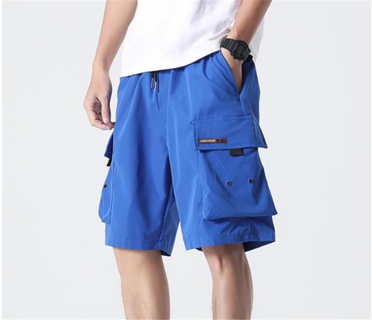 7XL été Hommes Cargo Shorts Solide Couleur Oversize en vrac Hip Hop Casual adolescents Hommes Shorts Designer Longueur du genou avec poches
