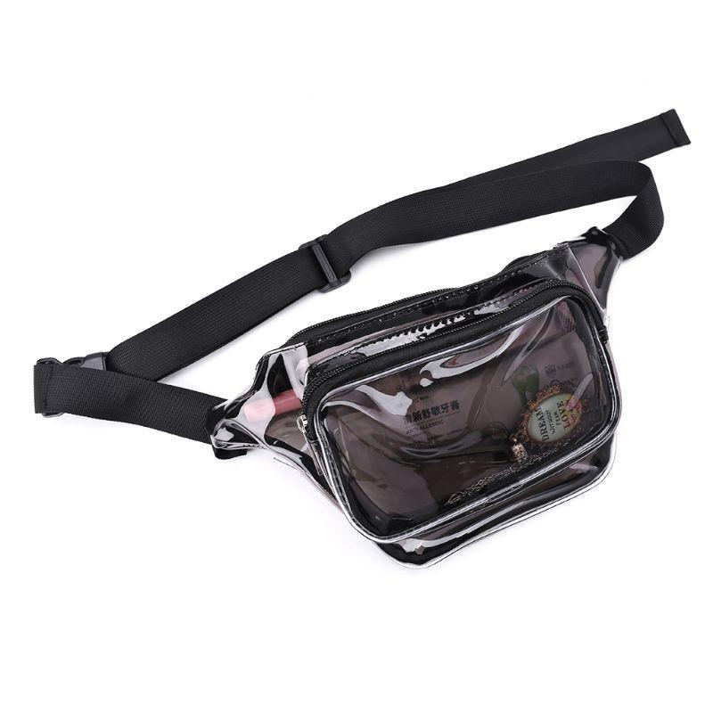 أزياء سيدة PVC الشفاف الهاتف الحقيبة محفظة المرأة حقيبة الخصر فاني حزمة الورك الصدر حقيبة السفر واضح حزام بوم حقيبة محفظة جديد