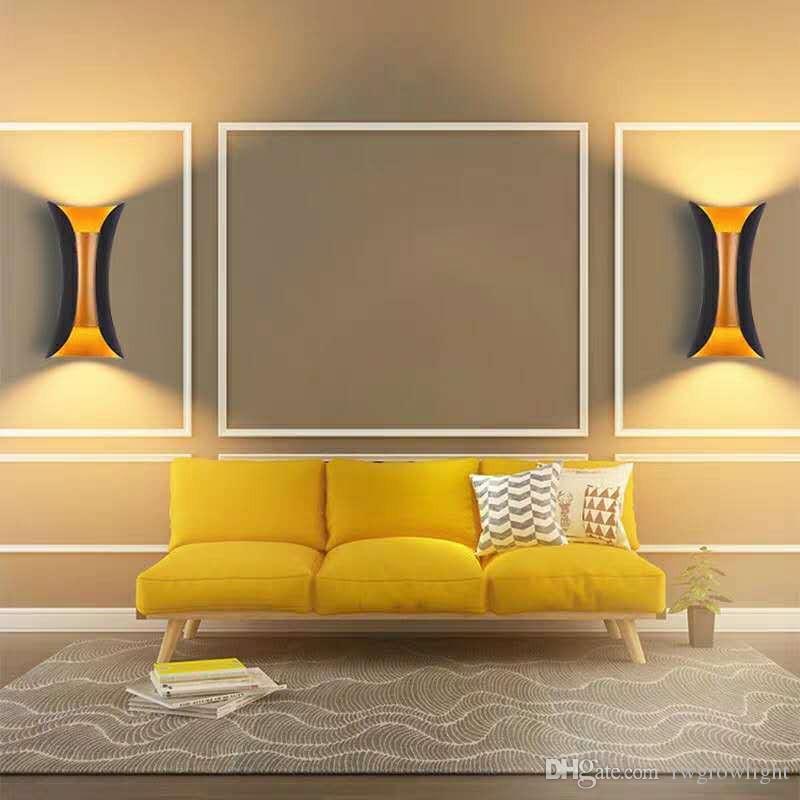 lámpara de pared impermeable al aire libre del LED dormitorio pared del balcón creativa salón pasillo de iluminación de noche de modernas nórdica