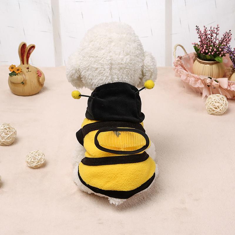 Giyim Sarı Malzemeleri Sevimli Hayvanlar İçin Güzel Köpek Giyim Kış Kedi Ürünleri Arı Giyim Coat Hoodie Kostüm Kıyafet Köpek Giyim