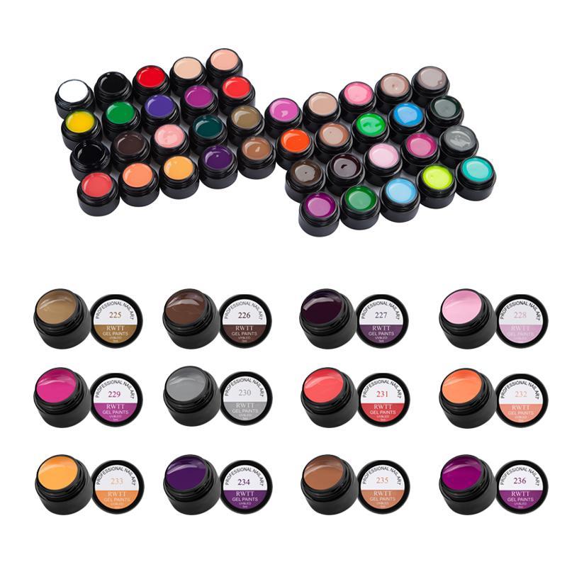 58 Couleur Gel UV Nail Art Design Manucure LED UV Soak Off peinture bricolage encre gel Vernis à ongles