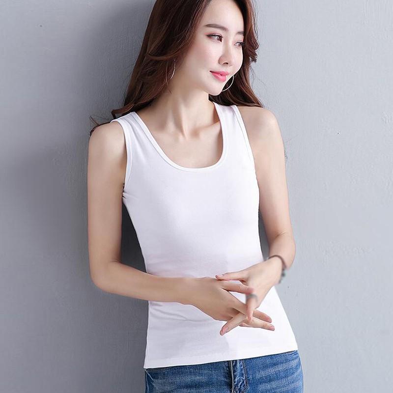 Femmes Gilet d'été coréenne style rétro sauvage sexy mince couleur unie Gilet Filles col rond Casual