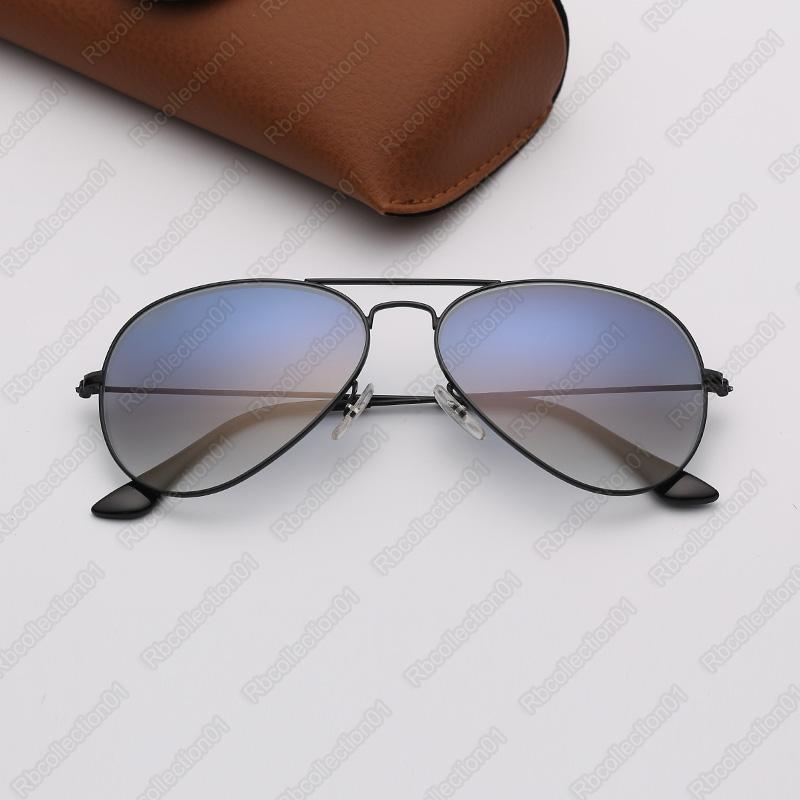 grife de raios mens sol óculos piloto eyeware sol óculos mulher marca de moda óculos de sol óculos de sol lentes degradê com capa de couro