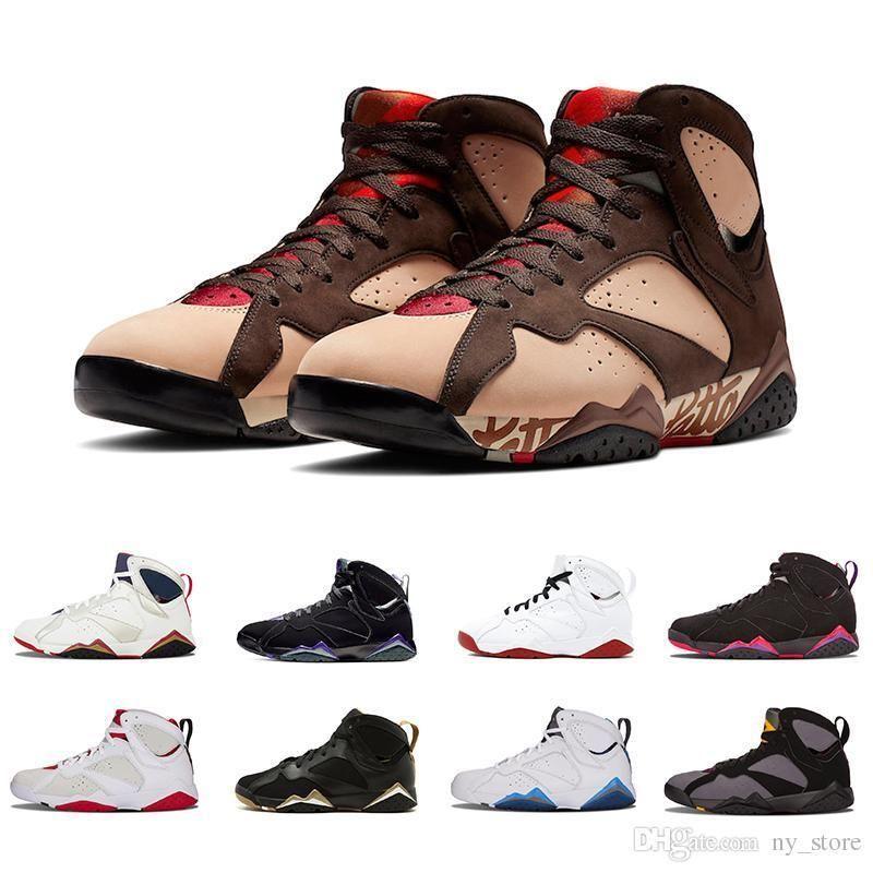 2019 Gmp Patta X 7 Ray Allen Olímpico 7s Hombres Zapatillas de baloncesto Burdeos Historia del vuelo Hombre Hare Raptor Charcoal Sneakers deportivos 41-47
