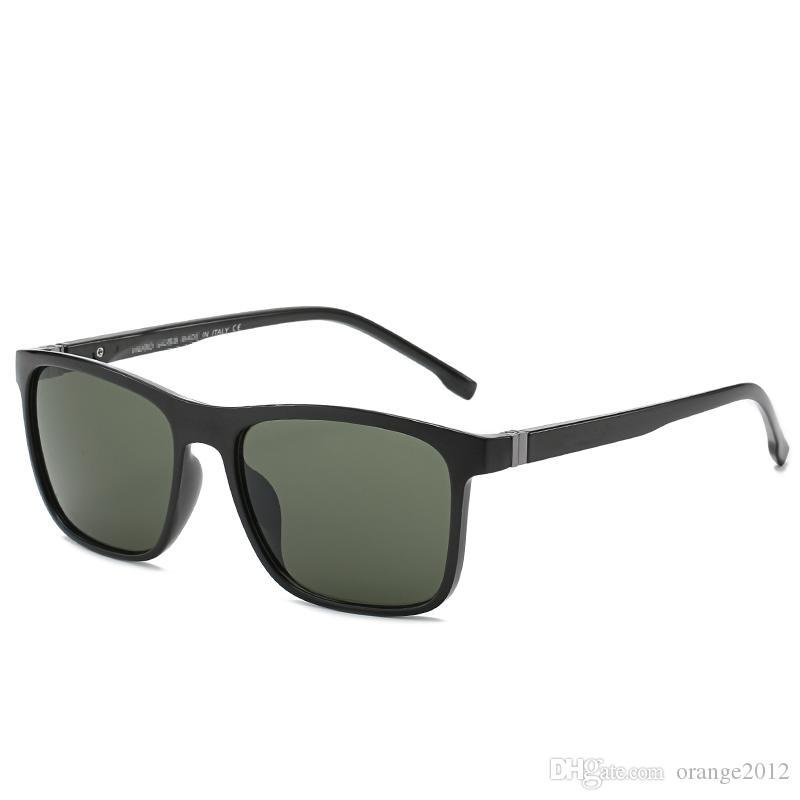 2019 새로운 패션 광장 숙녀 편광 선글라스 UV400 남성 안경 클래식 레트로 브랜드 디자인 운전 선글라스