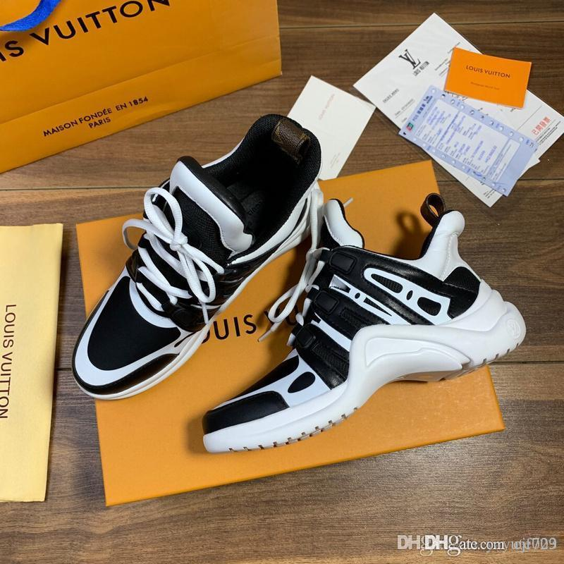 A1 amantes calçados casuais sapatos masculinos New Moda Masculina Sports Shoes Sneaker Laranja preta que anda Moda de Dirty Dad Mulheres