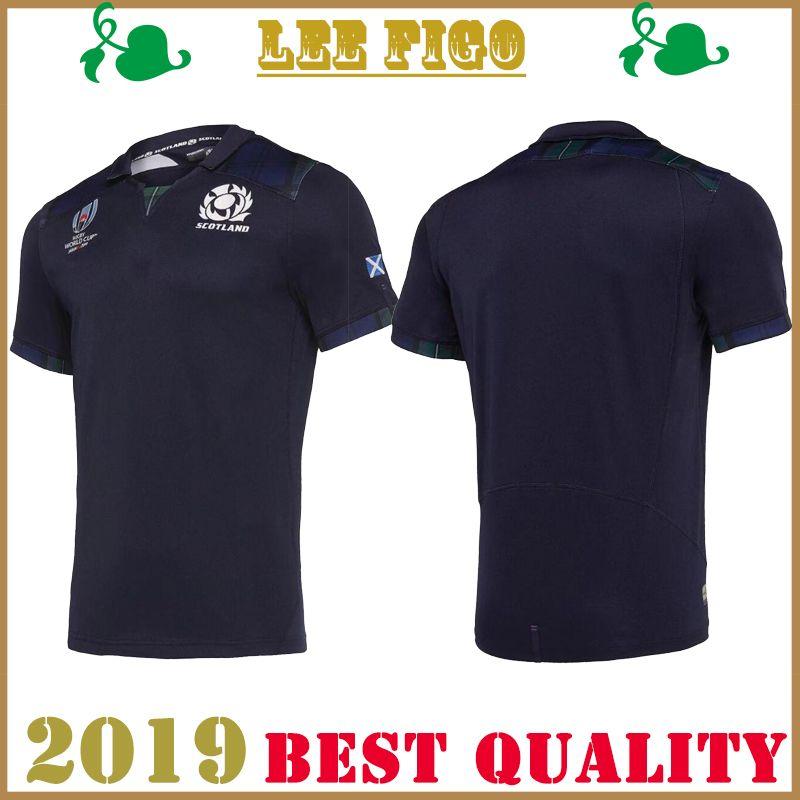 Nuevo 2019 JAPAN World Cup Scotland home Camisetas de rugby Mejor calidad ESCOCIA RUGBY HOME TAMAÑO DE LA CAMISA: s-3xl