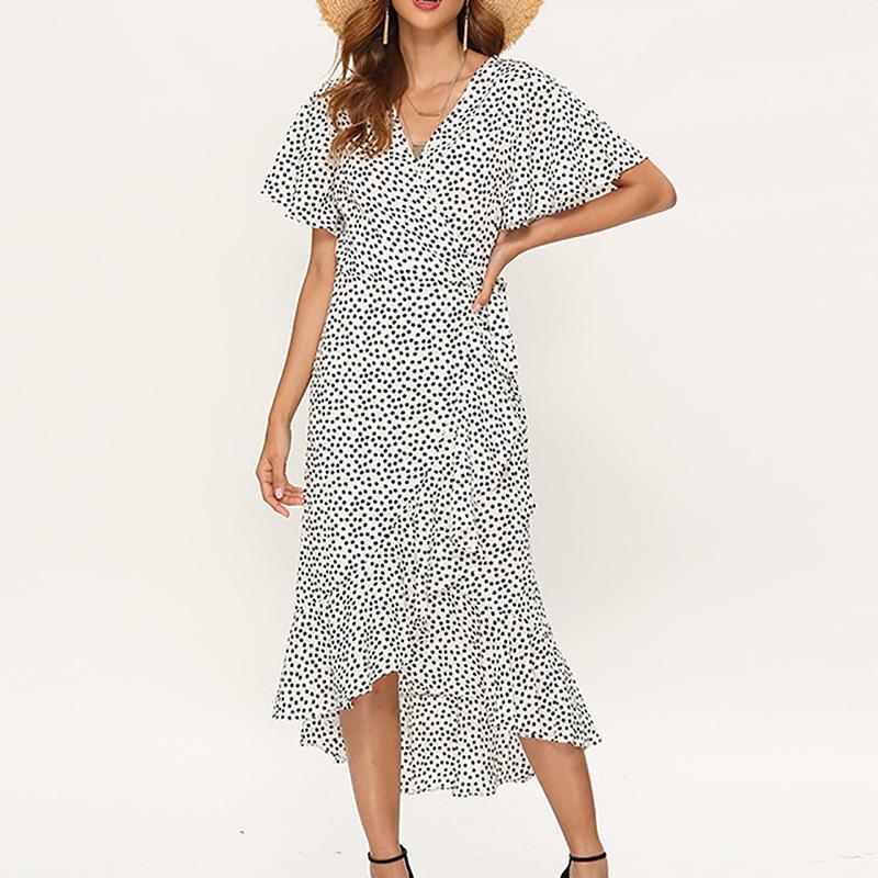 Para mujer vestidos de moda 2020 nuevos vestidos del diseñador con las lentejuelas partido de las mujeres del lunar de los vestidos de Calle PH-csl20010810