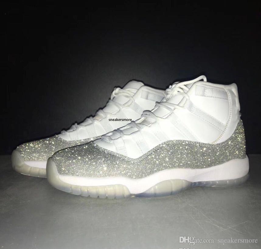 Yeni 11'ler Geniş Gri Metalik Gümüş Basketbol Ayakkabı 11 Concord daha Yılan derisi Heiress Florida Platin Ton Erkek Kadın Spor Sneakers Bred