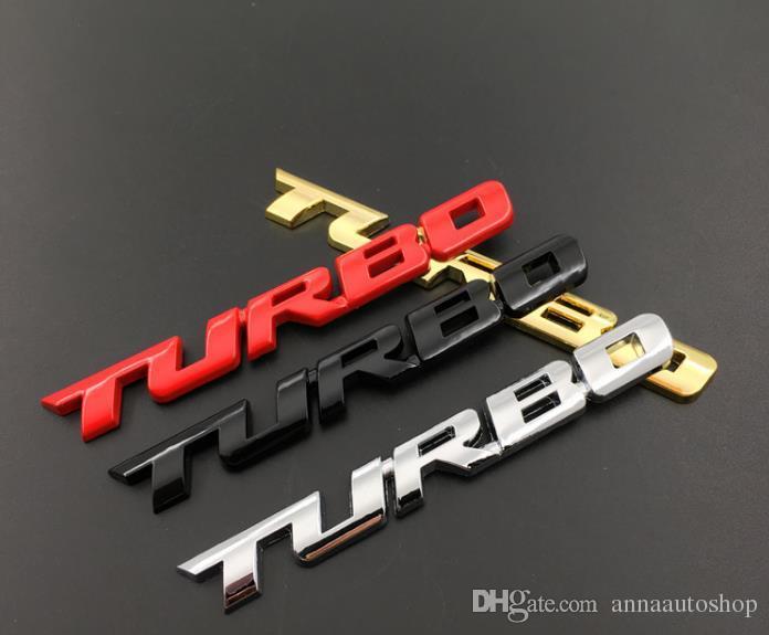 새로운 3D 자동차 스타일링 스티커 금속 TURBO 엠블럼 Body Rear 꼬리표 배지 포드 포커스 2 3 ST RS Fiesta Mondeo Tuga Ecosport Fusion