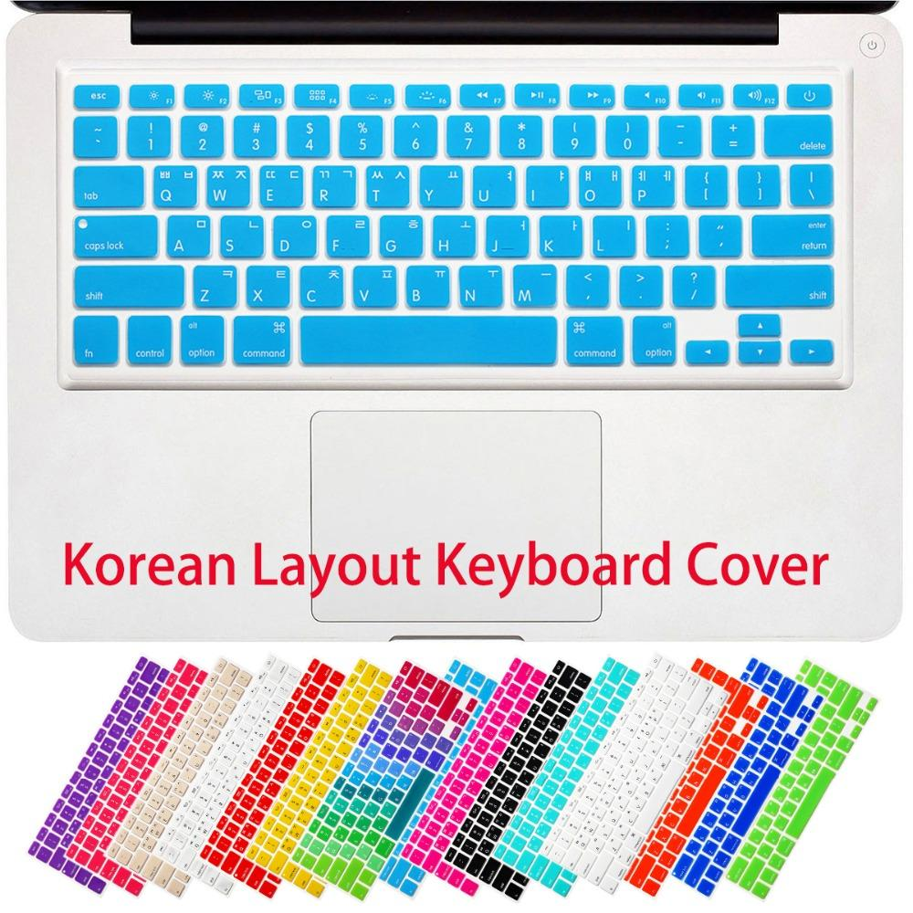 Korean Korea Letters Silicone Keyboard Cover Sticker Protective Film For Macbook Air 13 Pro 13 15 17 with retina