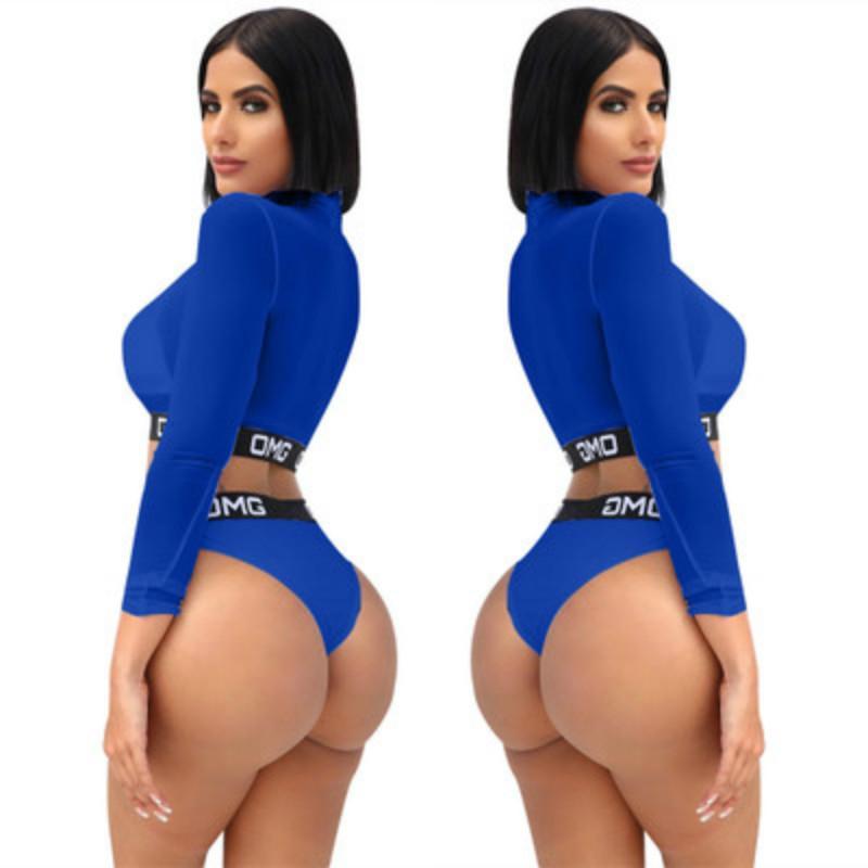 Venta caliente de Las Mujeres Sexy Brasileña Bikini Set traje de Baño Traje de Baño Traje de Baño 2019 Carta de Verano Impreso Malla Sujetador Ropa Interior trajes de baño