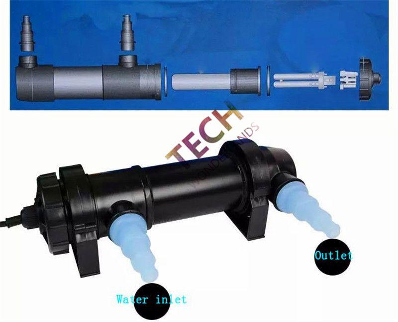 JEBO Aquarium Teich UV-Sterilisator Lampe Licht Wasser Reiniger Aquarium UV-Filter Erheller 5W 7W 9W 11W 13W 18W 24W 36W