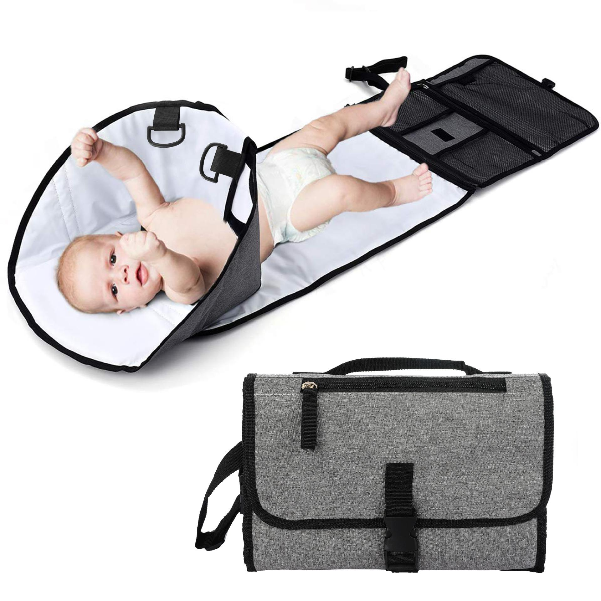 Baby Changing Pad Foldable Washable Diaper Mat Infant Waterproof Nappy Bag US