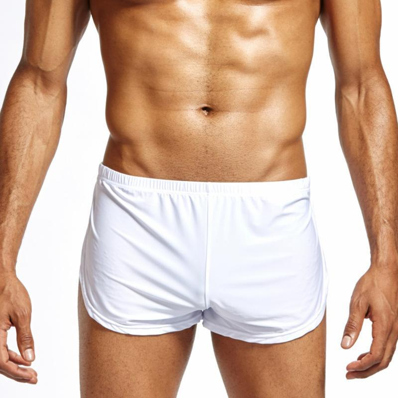2020 الرجال سراويل الرجال مثير قصير الصلبة تنفس الجليد الحرير السروال سروال الحقيبة بوكسر ملابس داخلية سوس Vetement أوم