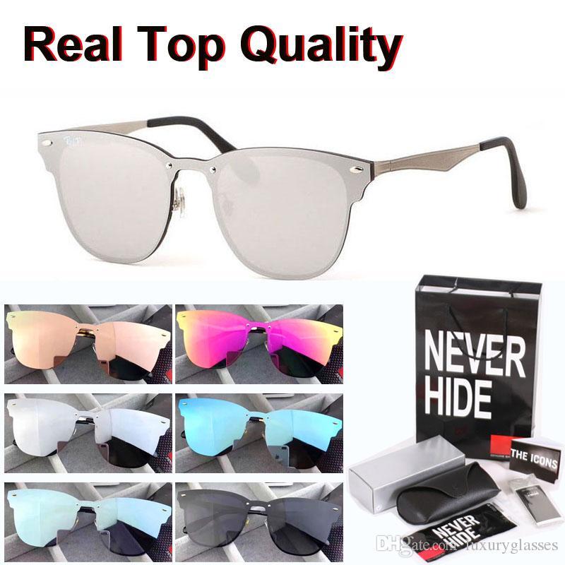 Excelente calidad de diseño de viajero remaches del estilo gafas de sol Hombres Mujeres Marca Gafas de sol con la caja original, paquetes, accesorios, todo!