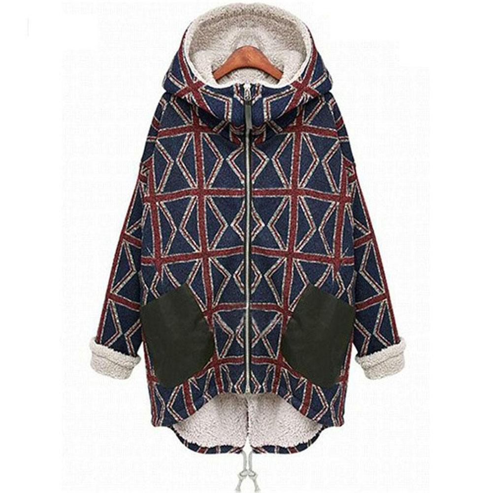 2019 donne Autunno Inverno nuovo più personalità velluto cotone caldo Large Size cappotto lungo con le tasche Outwear femminile