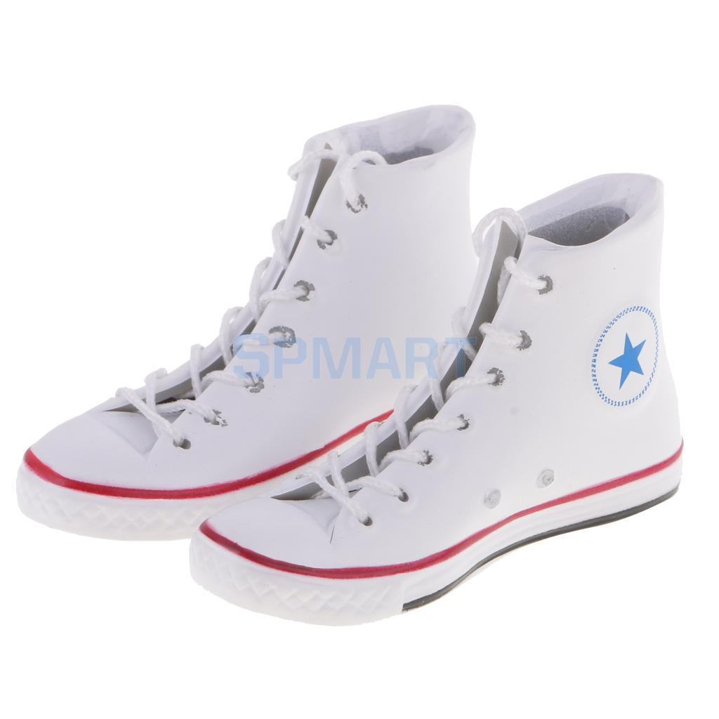 """1//6 Scale White Black Sneakers Sports Shoes Trainers for 12/"""" Action figure Toys"""