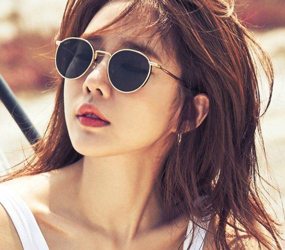 2019 yeni yüksek kaliteli moda bayan yuvarlak çerçeve polarize güneş gözlüğü Retro eğilim güneş gözlüğü kadınlar