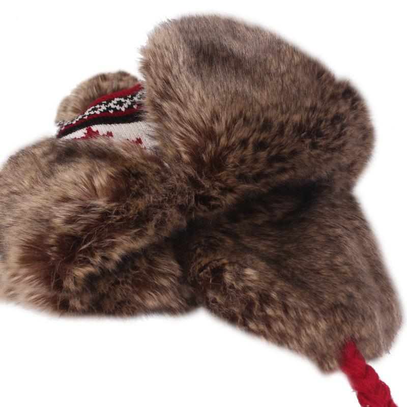 Maple Leaves Earmuffs Cap Lei Feng Hat Outdoors Knitting Wool Hat
