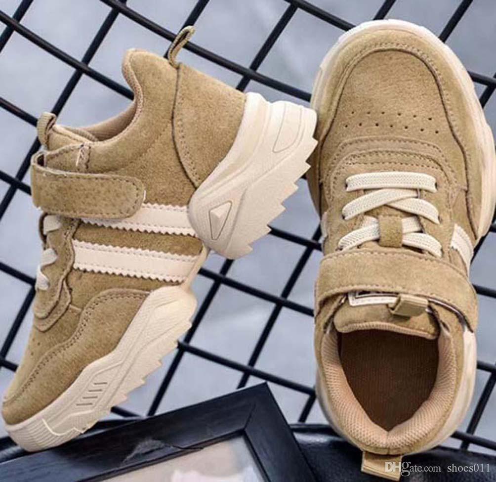 Top Qualité Classique Sneaker Chaussures enfants Mode intelligent chaussures triple pour enfants plate-forme chaussures en cuir air chaussures shoes011 PX445