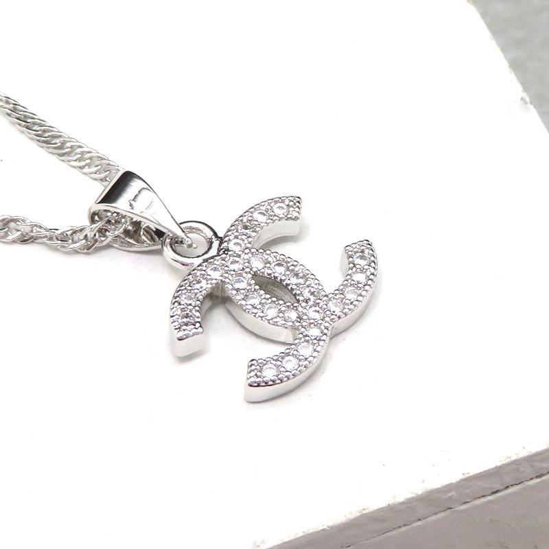 Top Fashion Pendant Designer Necklace Letter women Necklace Crystal Diamond Clavicle Luxurys Necklaces Lady Jewelry Gift Best Quality