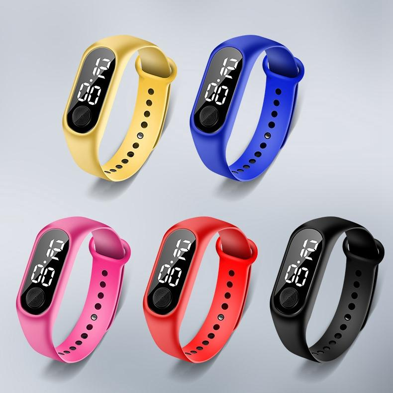 Trend beliebte heiße weiße LED-Licht Uhren für Sportstudenten Kinder Junger Mädchen Kinder der Männer Digitaluhr der Frauen dünne Armbanduhr