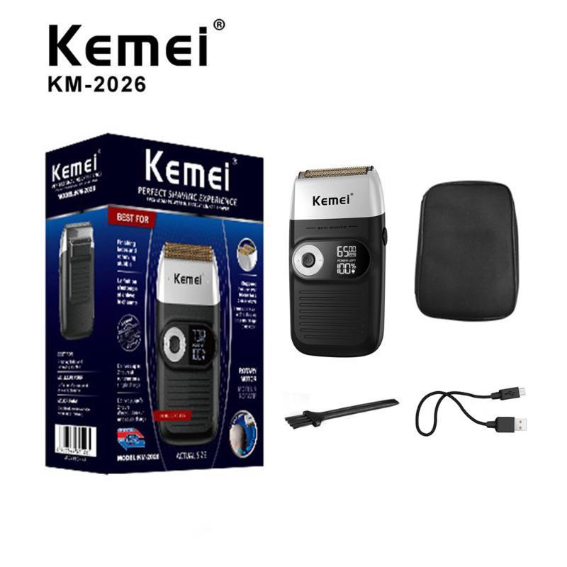Новый Kemei Электробритвы KM-2026 Портативный электрический Мужчины Женщины Бритва Бритва Борода триммер аккумуляторная ЖК-дисплей 1400mA