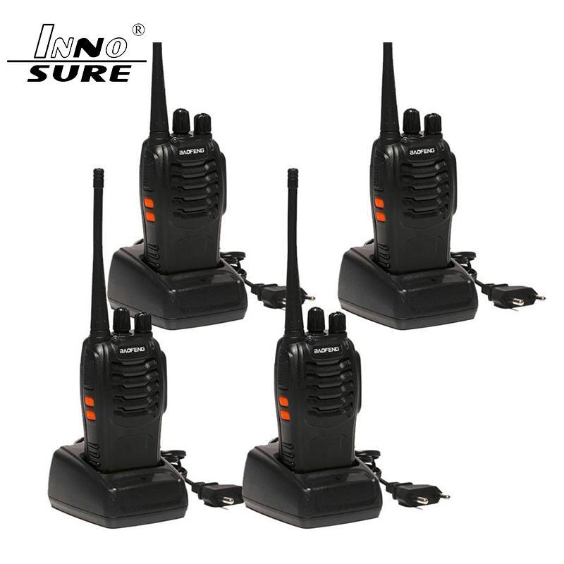 4шт Baofeng BF-888S Walkie Talkie 5W Handheld bf 888s UHF 5W 400-470 МГц 16CH двухсторонний портативный монитор сканирования Ham CB Radio