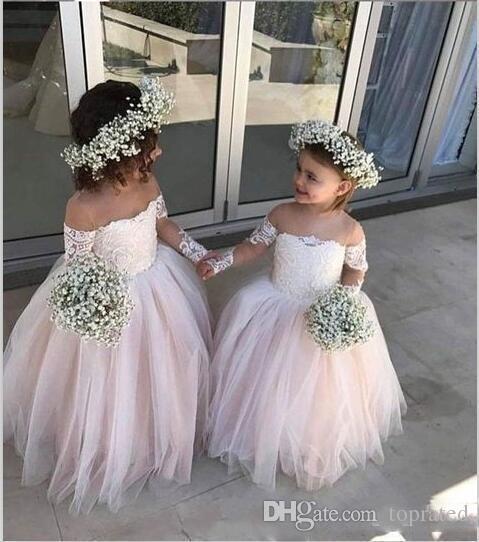 Acheter Belle Tulle Robes De Fille De Fleur