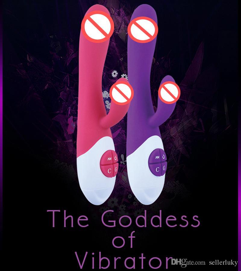 Produkte Weibliche Kaninchen Vibrator Sex Multi-Frequenz Spielzeug Massager Simulation Dildo G-Spot Masturbator Magie Sex Zauberstab Für Frauen Qajke