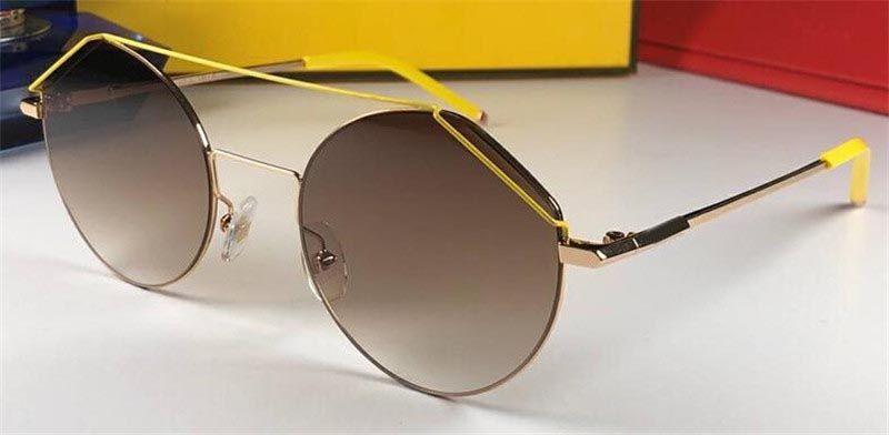 New fashion designer sunglasses 0042 simple round frameless wild style outdoor uv400 protection wholesale eyewear top quality