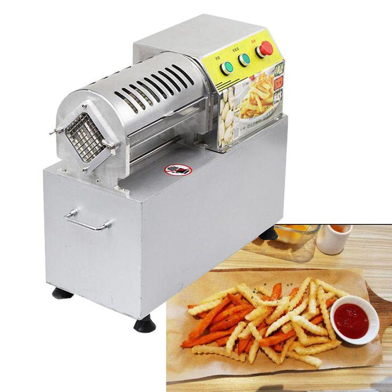 Garantía de Calidad patatas fritas de corte máquina batata máquina eléctrica comercial pepino patata automática de acero inoxidable de corte