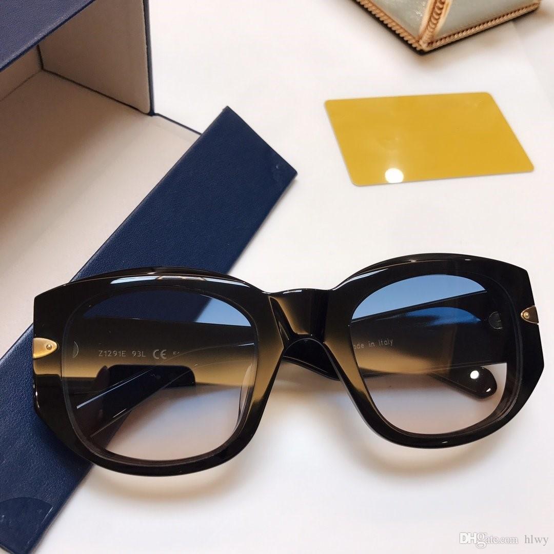 129W occhiali da sole di lusso del progettista delle donne di modo di marca stile popolare estate misto Colore della montatura delle lenti superiore UV Protection prossimo con il caso
