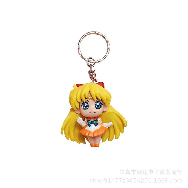2018 The New 1PCS lovely Sailor Moon Keychain resin Key Ring Cartoon Bag Car key chain Chaveiro Gift For Women