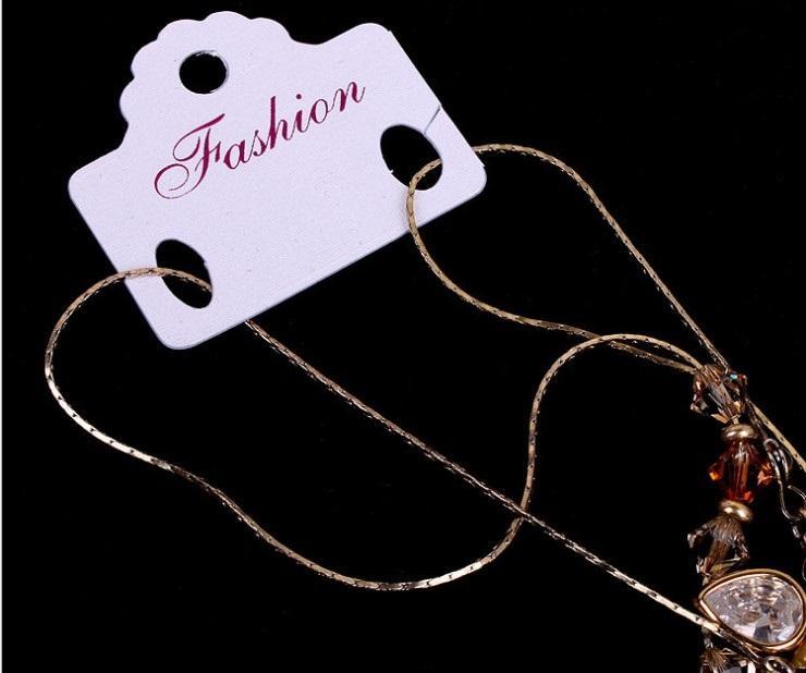 2020 venta caliente de la joyería de empaquetado de papel de embalaje pasta de tarjeta de collar de perlas de PVC tarjeta de los 3.7cm * 3.2cm