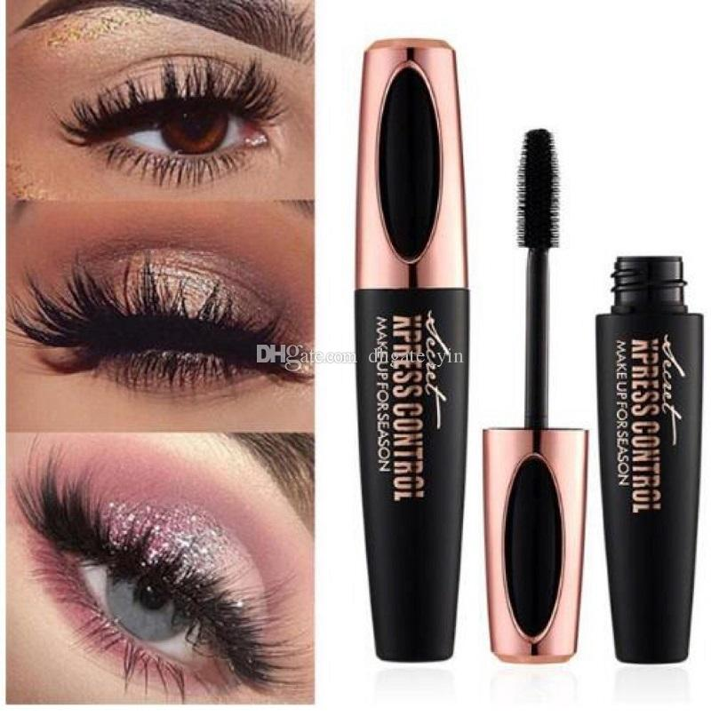In stock MACFEE Long Curling Mascara Makeup Eyelash Black Waterproof Fiber Mascara Eye Lashes makeup 4d Silk Fiber Lash Mascara