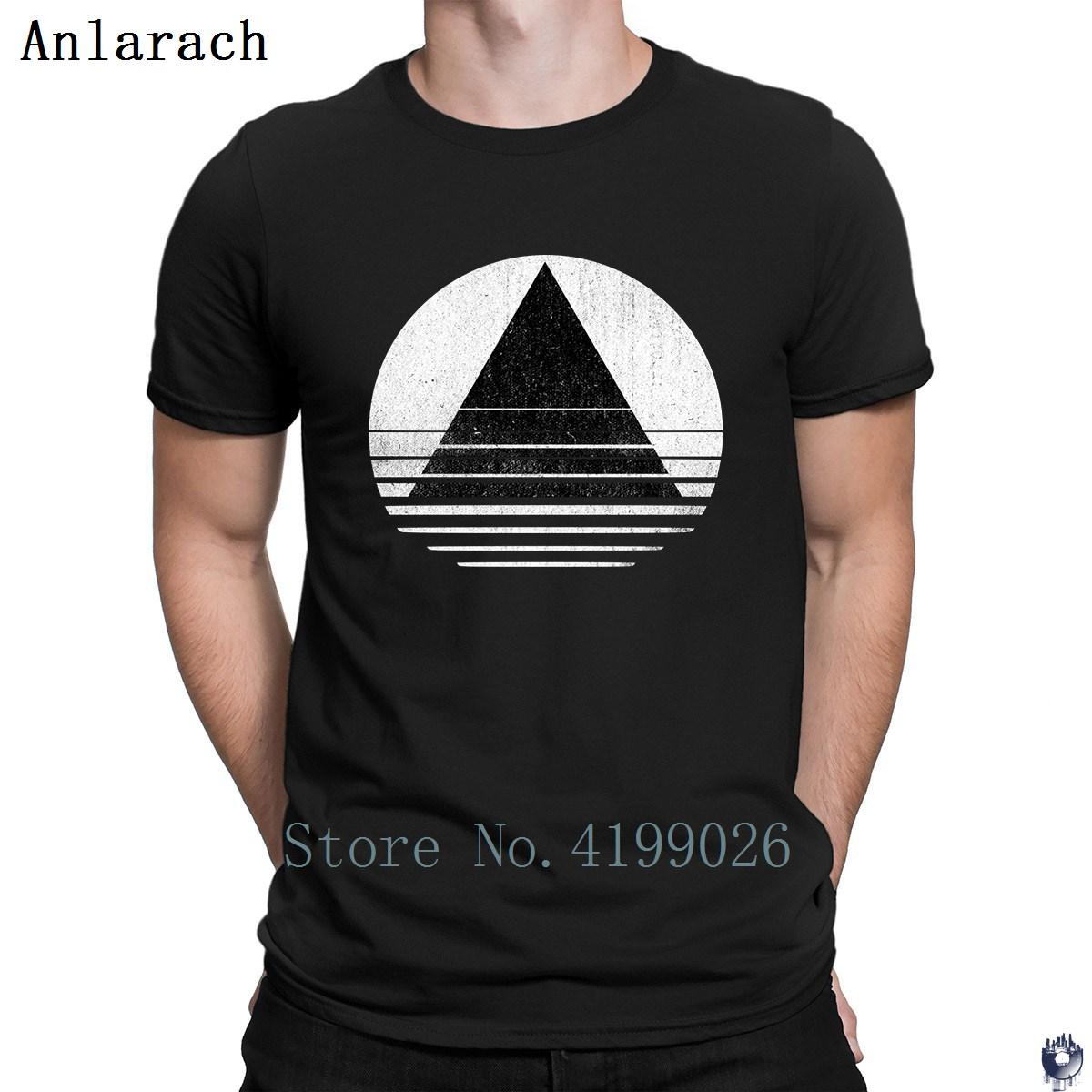 Minimalist Triangles and Circle Distressed tshirts Cute Top Quality Pictures men's tshirt O-Neck homme summer Anlarach Latest