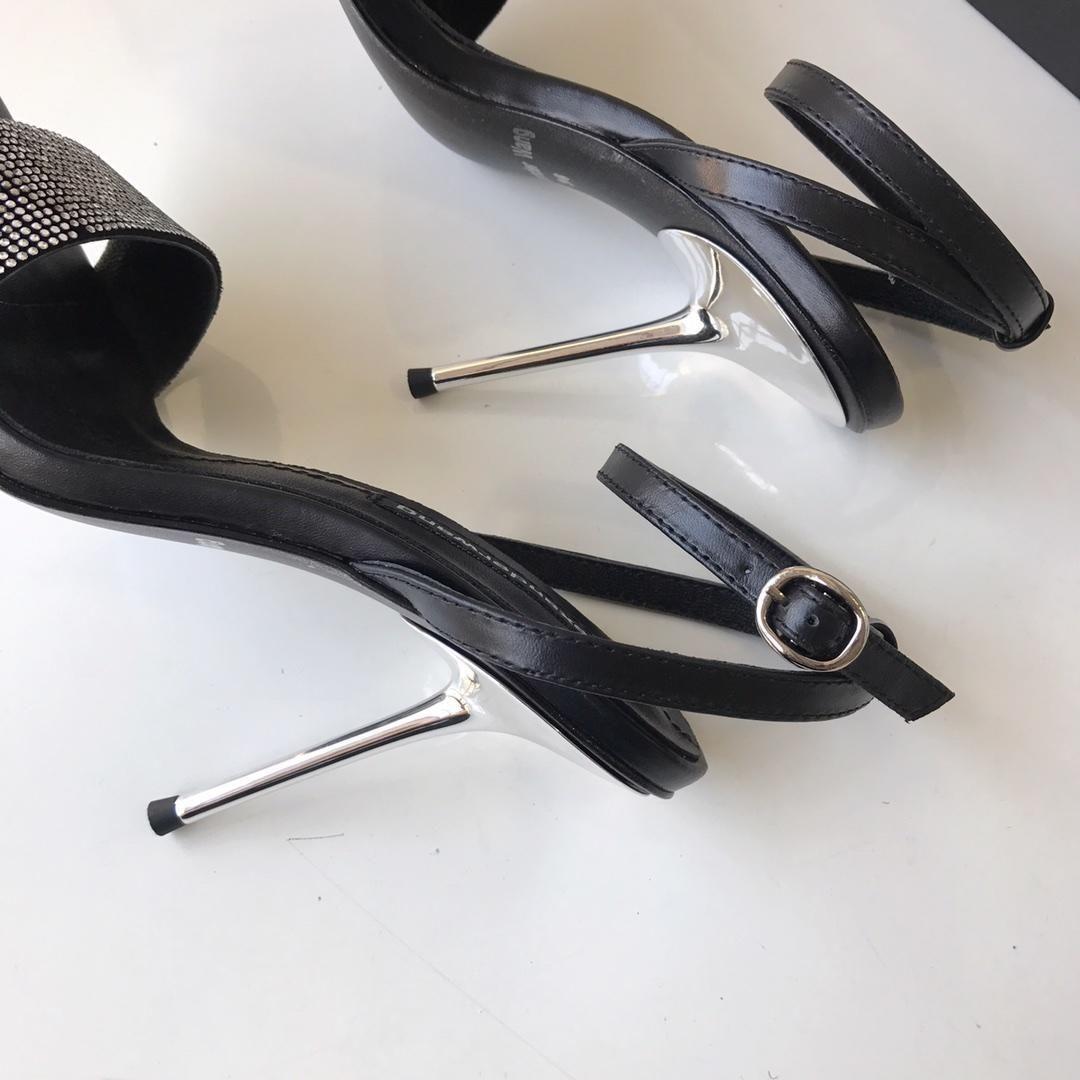 Sıcak Satış-2019 Yeni Varış Stiletto Elmas Üst Dar Yüksek Topuklu 9 cm Sandalet EU35-40