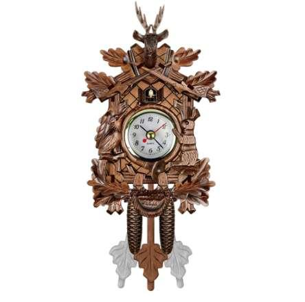 뻐꾸기 벽시계 버드 알람 시계 나무 매달려 시계 시간 홈 레스토랑 유니콘 장식 미술 빈티지 스윙 거실